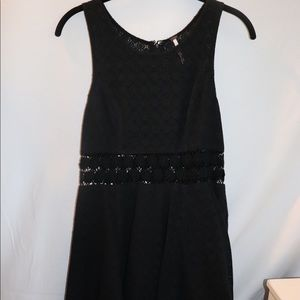 Free People Black Daisy Lace Dress